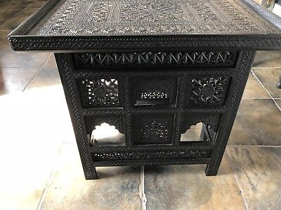 Rare Anglo Indian Nagina Ebony Occasional Table