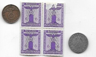 Rare Old German WWII WW2 Germany Eagle Coin Stamp Great War Collection LOT:I23