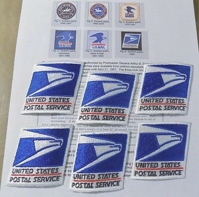 Lot of 6 pieces_USPS United States Postal Service Uniform Emblem Iron-on Patches