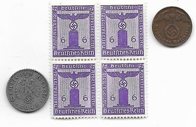 Rare Old German WWII WW2 Germany Eagle Coin Stamp Great War Collection LOT:I27