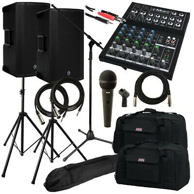 Mackie Thump 15BST Powered Loudspeaker COMPLETE AUDIO BUNDLE