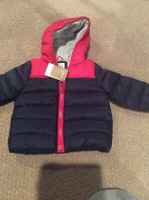 a6d018ad716d NWT BABY BOYS 0-6 MONTHS GAP Olive Green Sherpa Lined Puffer Parka ...