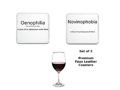 Novelty Wine definitions Set of 2 Premium Coasters