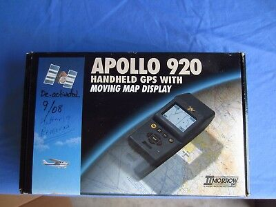 Apollo 920 Plus  Handheld Aviation GPS with power cords and antenna