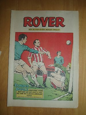 EVERTON v SUNDERLAND 1969 HOWARD KENDALL GOAL COVER  ROVER COMIC 1969