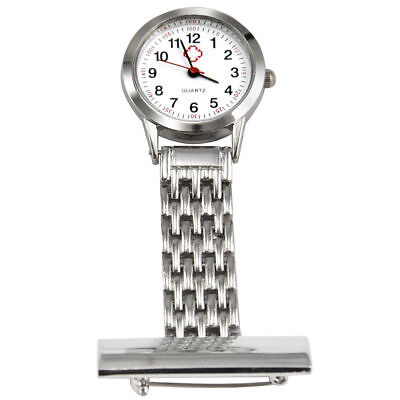 Stainless Steel Nurse Watch Brooch Tunic Fob Watches