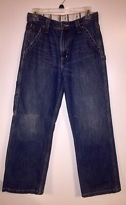 Size 18 Boys Levi Strauss Cargo Jeans 29x29 Lots of Pockets Vtg Excellent Cond