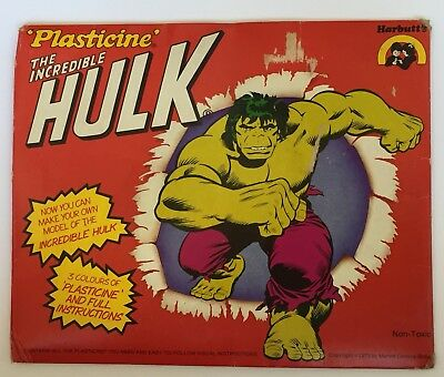 Vintage Marvel Comics The Incredible Hulk 1979 Plasicine Set