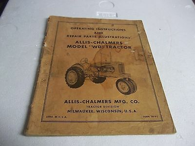 ALLIS CHALMERS WD & WD45 WD-45 Tractor Service Repair Manual