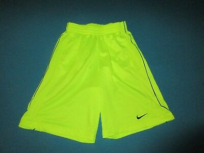 NIKE Mens Neon Yellow Athletic Shorts Size Small S