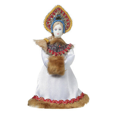 Russian handmade Porcelain Traditional Folk Costume Doll 7.5'' #06-05