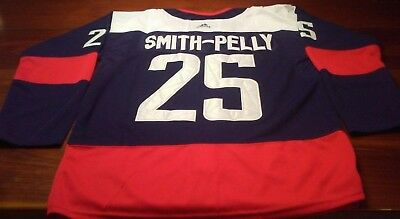 new style 3989c 0fc6d DEVANTE SMITH-PELLY STADIUM Series Jersey Washington Capitals Large  Smithpelly