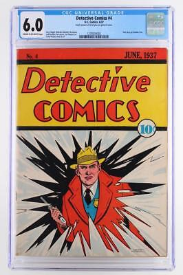 Detective Comics #4 - CGC 6.0 FN -DC 1937- Pre-Batman - RARE early issue!!!