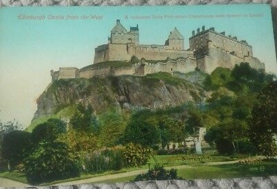 Vintage Scottish Postcard Edinburgh Castle From The West