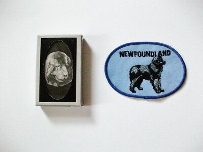 Newfoundland Dog Deluxe Playing Cards & Embroidered Patch - New!!