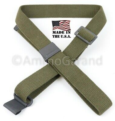 Garand Web Sling for M1 OD Green Cotton 2-Point USGI SPEC & US Made New