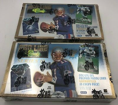 (2) Classic Pro Line 1995 Football Card Unopened Boxes Phone Card in Every Pack