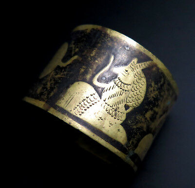 Early 20th C EGYPTIAN DAMASCENE Napkin Ring