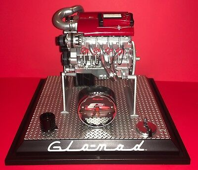 Snap On Tools Glomad engine desk clock.  original packing Glo-Mad LS7