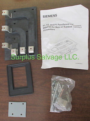Siemens MBKFD3 Main Breaker Subfeed Mounting Kit FD P1 S1 S2 copper new in box