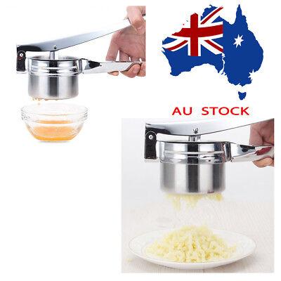 Potato Ricer Masher Fruit Press With 3 Discs Professional All Stainless Steel AU