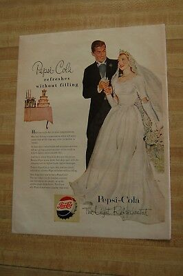 Vintage 1940s Magazine Ad - PEPSI-COLA Wedding