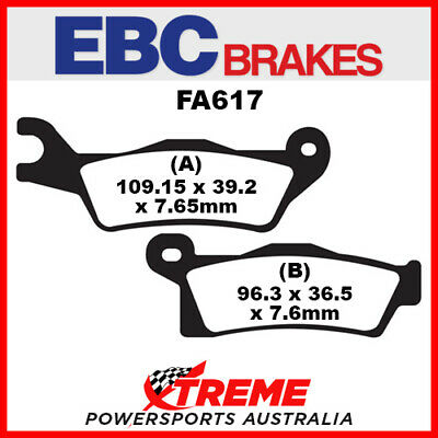 Can Am Outlander 1000 STD 2012 EBC Copper Sintered Front Right Brake Pads, FA617
