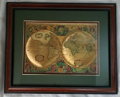 Framed gold foil nova totivs terrarvm old world mapblaeu wall map nova totivs terrarvm old world map henr hondio print gold foil matte framed gumiabroncs Choice Image