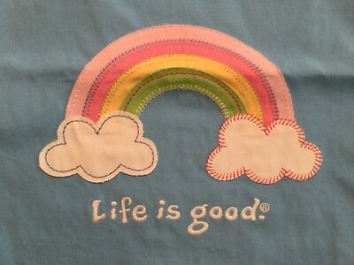 NEW Life is Good Good Kids Girls Tote Bag Rainbow Appliqué Very Cute!!