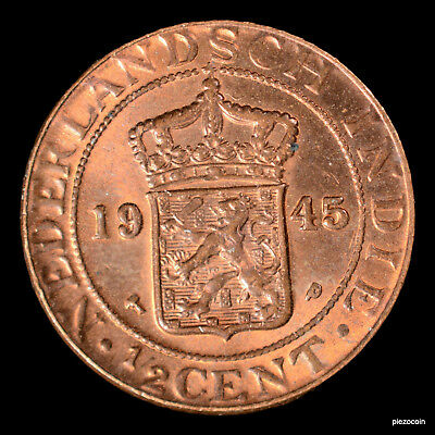 Netherlands East Indies 1/2 Cent 1945 #a665