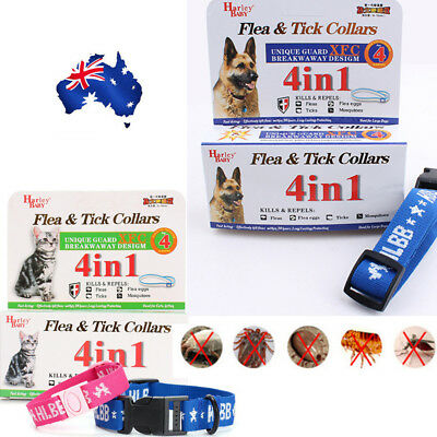 Effective Anti Fleas Ticks Mosquitoes Elimination Nylon Collar up to 4 Month AU