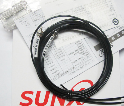 H● SUNX FT-H20-M1 Thrubeam Fiber Optic Cable - M4 Threaded - High-Temp Rated to
