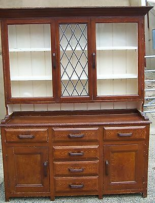 "Vintage/antique Welsh dresser farmhouse celd mamgu painted 64"" x 79.1/4 see det"