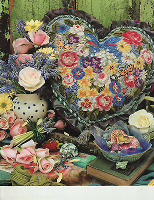 Victorian Flowered Heart Candace Bahouth Tapestry Needlepoint Chart