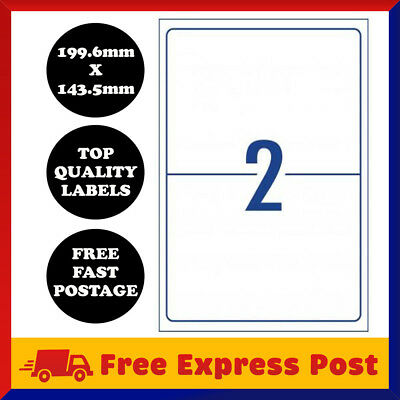 [2 Per Page] A4 Self Adhesive Address Labels Laser Inkjet Print Mailing Sticker