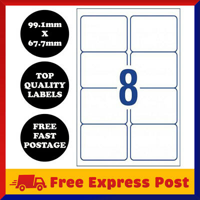 [8 Per Page] A4 Self Adhesive Address Labels Paper Sheet Mailing Sticker 8 UP