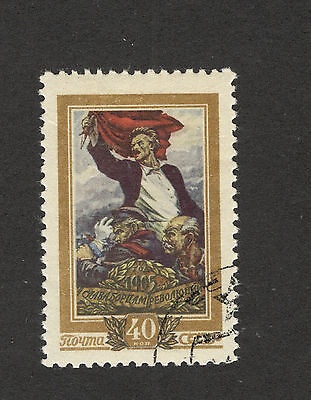 Soviet Union-RUSSIA-USED STAMP-50th anniversary of the first Russian revol-1956.