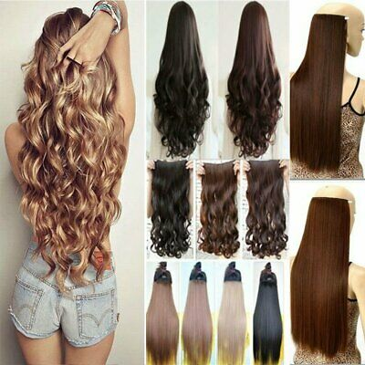 Wavy Curly Straight Hair Piece Extension Hidden Invisible Wire Piece Secret Hair