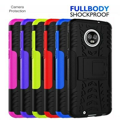 Motorola Moto E5 G5 G5S G6 G7 Plus G6 Play Case Heavy Duty Tough Stand Cover
