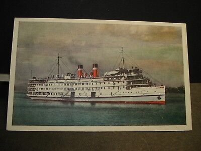 SS QUEBEC, CANADA STEAMSHIP LINES Naval Cover unused postcard