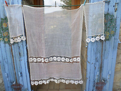 3 french Curtains Vintage Mesh / Nets & Sunflowers