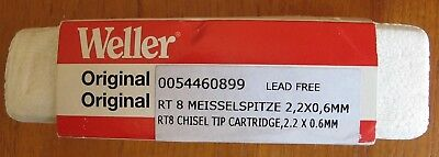 Weller RT8 Chisel tip 2,2 x 0,4 mm, 40 W FOR WMRP &WXMP T0054460899