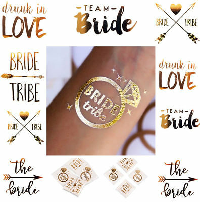 Bride Tribe Temporary Tattoos Team Tattoo Hen Night Holographic Squad Crew Party