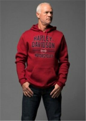 VF Mens Kaputzenpullover Herren, mit Backprint Red Dahlia*Rattling Time