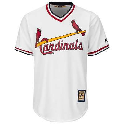 Majestic St. Louis Cardinals Cooperstown Cool Base MLB Trikot Weiß