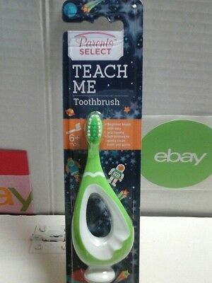 Parents Select Teach Me childrens Toothbrush SOFT Ages 6  Months Green