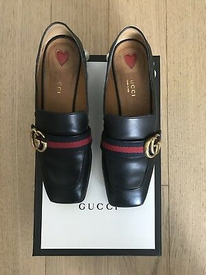 b6274af6f GUCCI PEYTON BLACK Pearl Loafer Pumps Shoes 37, US 7 - $725.00 ...