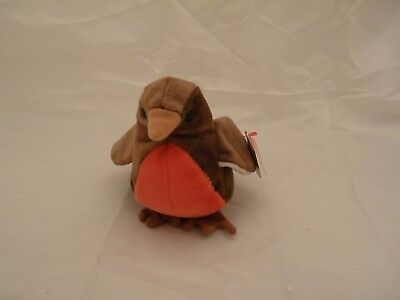 1997 Ty Original Beanie Babies EARLY The Red-Breast Robin Bird w/Tags (8 inch)