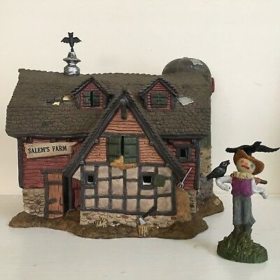 "Dept 56 New England Village, 2 Pc ""Salem's Farm"" and ""Scaredy Crow"""