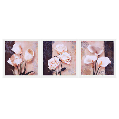 3 Panel Modern Abstract Art Oil Print Painting on Canvas Flower Blooming